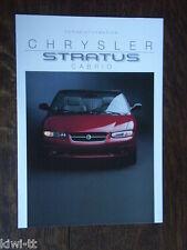 CHRYSLER STRATUS CABRIO preinformazione prospetto/brochure/DEPLIANT, D, 8.1995