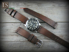 Cinturino in Pelle Bufalo Vintage ILLINOIS 20 mm Watch Strap Band Marrone