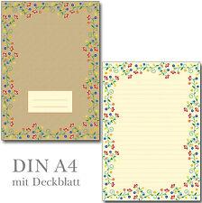 Schreibblock Blütenzauber Vintage A4 25 Blatt Briefpapier Motivpapier Briefblock