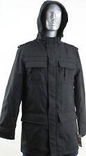 NWT $150 ALFANI MENS HOODED MIDWEIGHT JACKET COAT-BLACK-LARGE