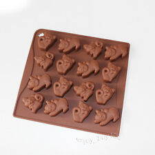 Cute Cat Kittens Chocolate Candy Soap Jello Silicone Mold Baby Shower Favors