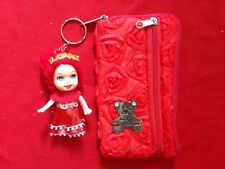 Mini Purse with Cute Dolls as Keychain for Children