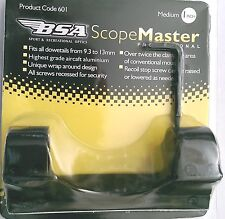 "BSA 601 ScopeMaster 1 piece medium 1"" tube scope mount 9.5mm to 13.5mm dovetails"