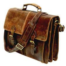 Vintage Sora messenger brown laptop satchel eco-friendly leather bag briefcase