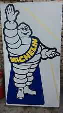 ancien PANNEAU Michelin  BIBENDUM CHRIS,lof,vintage,garage,no copie,no émaillée