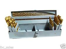 115 PC HSS INDEX TITANIUM DRILL BIT METAL STEEL FRACTIONAL & NUMBER LETTER SET