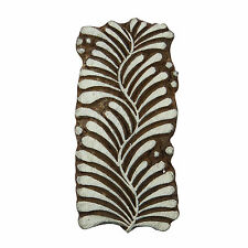 Handcarved Printing Block Wooden Texile Stamp Leaf Brown Stamp Blockprint