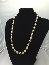 "Chain Unique Men/lady 24"" Heavy Gold coloured link Chain Ball Necklace Jewelry 8"