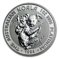 1994 1 oz Australian Platinum Koala Coin - Brilliant Uncirculated - SKU #55302