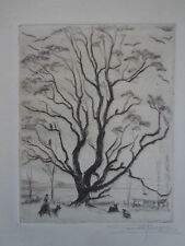 """Buzzards Roost"" Louise Boyer signed drypoint c.1940s INV 2231"