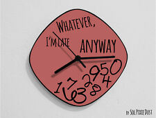 Whatever I'm Late Anyway / Oval Marsala - Wall Clock