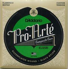 D'Addario EJ25B Pro-Arté compuesto de nylon negro, cuerdas de guitarra acústica de flamenco