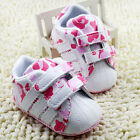 Baby Girl Pink Camo Crib shoes Soft Sole Sneakers size Newborn to 18 Months