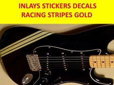 RACING STRIPES GOLD STICKER GUITAR  VISIT OUR STORE WITH MANY MORE MODELS GUITAR