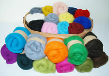 Short Fibre Carded Merino 21 microns Needle felting wool choose 20 colours 100g