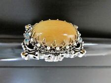 SWEET ROMANCE OLLIPOP amber large beetle bug ring-sz 6 adjustable