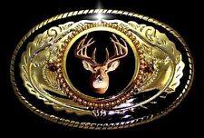DEER  ELK ANTLER HUNTER DOE BUCK HUNTING WILDLIFE  WESTERN BELT BUCKLE