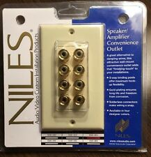 NEW Niles 5W-8D GOLD Audio Video Faceplate Speaker/Amp Convenience Outlet BONE