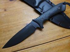 Spartan Blades Knife - Harsey Difensa - Black Blade - Black Handle - Black Kydex