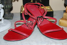 WHITE MT. NICOLETTE RED LEATHER SLING BACK HELL WOMEN'S SANDAL SHOES SIZE 8 M