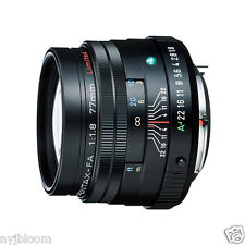 New SMC PENTAX FA 77mm F1.8 Limited Lens - Black - Auto Focus Lens