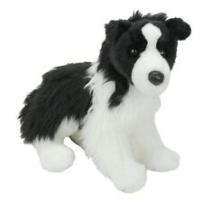 "CHASE Douglas 12"" long plush BORDER COLLIE DOG stuffed animal"