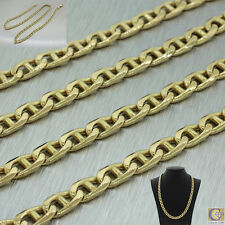 "Men's 14k Solid Yellow Gold Gucci Cuban Curb Chain Link Necklace 22"" 35.2g 5.3mm"