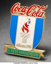OLYMPIC PIN 1996 ATLANTA COKE SPONSOR 1YEAR ANNIVERSARY