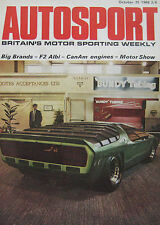 AUTOSPORT magazine 25/10/1968 featuring Dodge Dart 340 GTS, Savage 2 road test