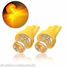 2x Amber LED T10 Wedge W5W Number Plate Light Bulb Cars Ford Holden BRZ AUSPOST