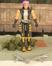 GI JOE vs Cobra Zarana v2 2003 Spy Troops action figure complete NO neck crack