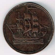 PEI SHIPS COLONIES & COMMERCE COPPER TOKEN DOUBLE H MINTMARK  BAR AMP I OVER O