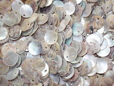 50 x MOTHER OF PEARL ONE HOLE  11mm  SEWING BUTTONS, SCRAPBOOKING, CRAFT ETC.,