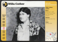WILLA CATHER Author Writer Photo GROLIER STORY OF AMERICA BIO CARD