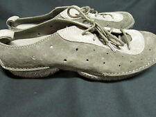 Merrell Duet Jazz Gray Suede Lace Up Slip On Mules Comfort Shoes Size 7.5 M