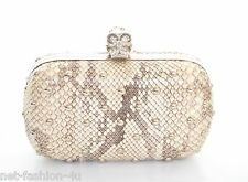 ALEXANDER McQUEEN STUDDED WATER SNAKE SKULL BOX CLUTCH BAG BNWT