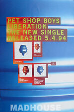 PET SHOP BOYS - POSTER - Liberation UK Rare PROMO ONLY 'In-store' Mint