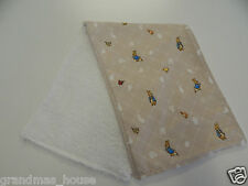 Peter Rabbit - Neutral  Burp Cloth - 1 Only Toweling Back GREAT GIFT IDEA!!