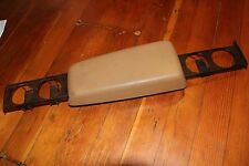 Volvo 240 740 760 940 Armrest TAN With Cup Holder Insert OEM Rare
