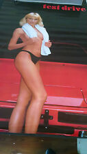 1986 Test Drive sexy topless blonde Porsche vintage new  NOS wall poster PBX3304