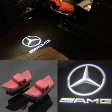 2x Benz AMG Logo LED laser Projector door light  For Benz W204 C-Class 07-2015
