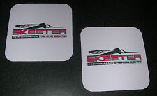 *New Set of 2 SKEETER BOATS Drink Coasters - Bass Fishing *FREE SHIPPING
