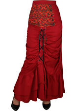 Plus Size Red Victorian Punk Circle Skirt Size 18