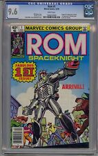 ROM SPACEKNIGHT #1 CGC 9.6 WHITE PAGES 1ST ROM