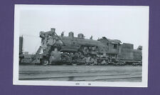 Chicago Burl Quincy CBQ 2-8-2  Steam Locomotive #802 Vintage B&W Railroad Photo