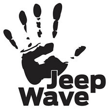 """(2x) 5"""" Jeep Wrangler Wave Emblem Support Decals Stickers (Choose Your Colour)"""