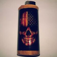 Skull Flag American Bic Lighter Case Holder Sleeve Cover