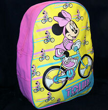 Vtg 90s Disney Pink Tour De Minnie Mouse School Book Bag Backpack Imaginings3