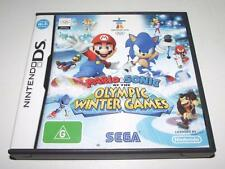 Mario & Sonic at the Olympic Winter Games Nintendo DS 3DS Game Preloved *Com