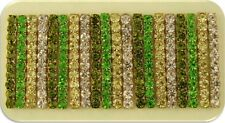 Beads Crystal Strips Olivine Peridot Swarovski Elements 2 Hole Sliders QTY 20
